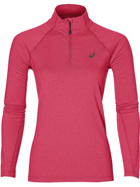 asics LS 1/2 Zip Jersey Hardloopshirt lange mouwen Dames rood